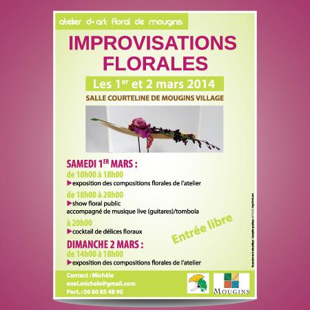 Affiche atelier art floral par EM3C