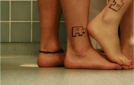 Couple-Tattoo-piece-puzzle-cheville-coeur