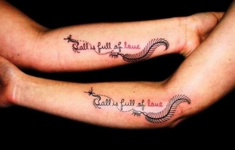 Couple-Tattoo-plume-ange-fee-all-is-full-of-love