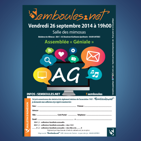 Flyer A6 assemblée générale association semboules.net