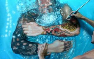 Gustavo-Silva-Nunez-peinture-bras-homme-piscine