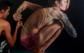 Gustavo-Silva-Nunez-peinture-femme-accroupie
