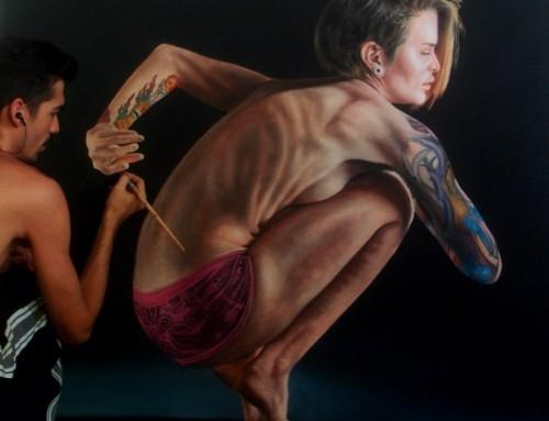 Admirez ces peintures photoréalistes de baignade par Gustavo Silva Nuñez