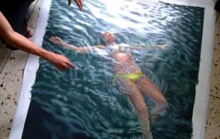 Gustavo-Silva-Nunez-vue-tablea-femme-piscine-peinture