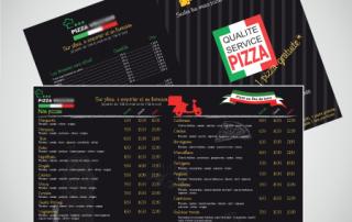 Flyer pizza pour camion pizza itinérant     format A5 par EM3C