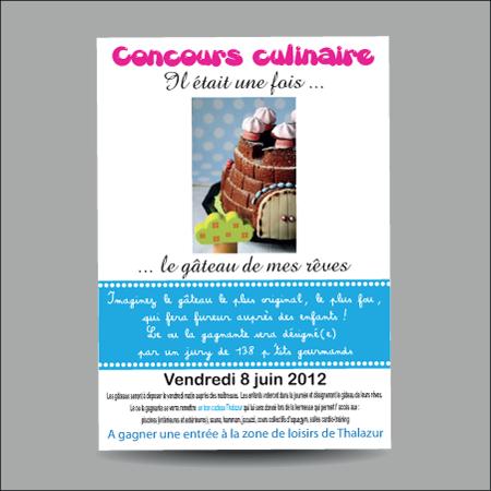 Création d'affiche pour concours de gâteaux pour association par EM3C