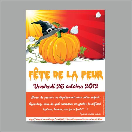 Création d'affiche pour halloween pour association par EM3C