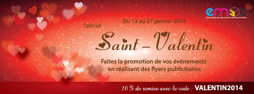 Promo flyer St valentin 2014