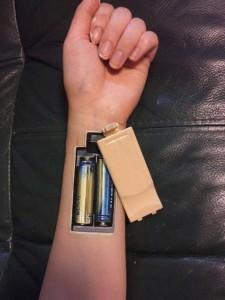 body painting piles dans le bras