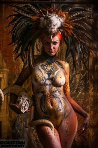 body painting savane sauvage