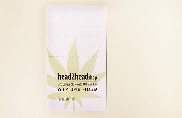 Carte Visite Professionnelle Filtre Cigarette Cannabis 1