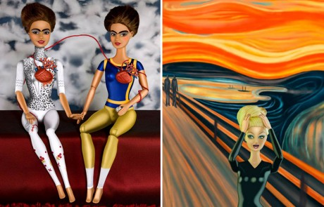 catherine-thery-barbie-femme-art-Frida-Kahlo-dward-Munch