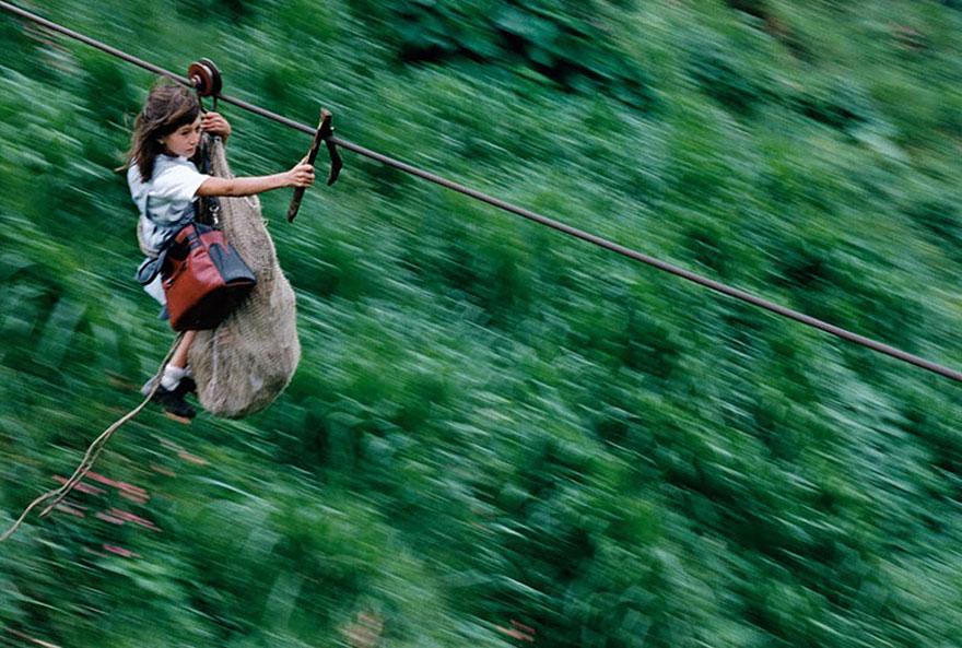 chemin-ecolier-dangereux-Colombie-Rio-Negro-1