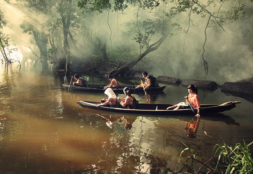 chemin-ecolier-dangereux-Indonesie-Riau