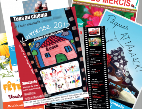 Collection d'affiche et flyer pour association scolaire