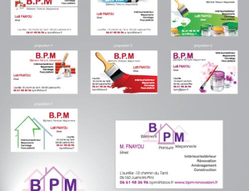 Carte de visite et rédaction de contenu web pour BPM rénovation