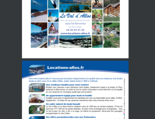 Flyer original et créatif pour Allos Location