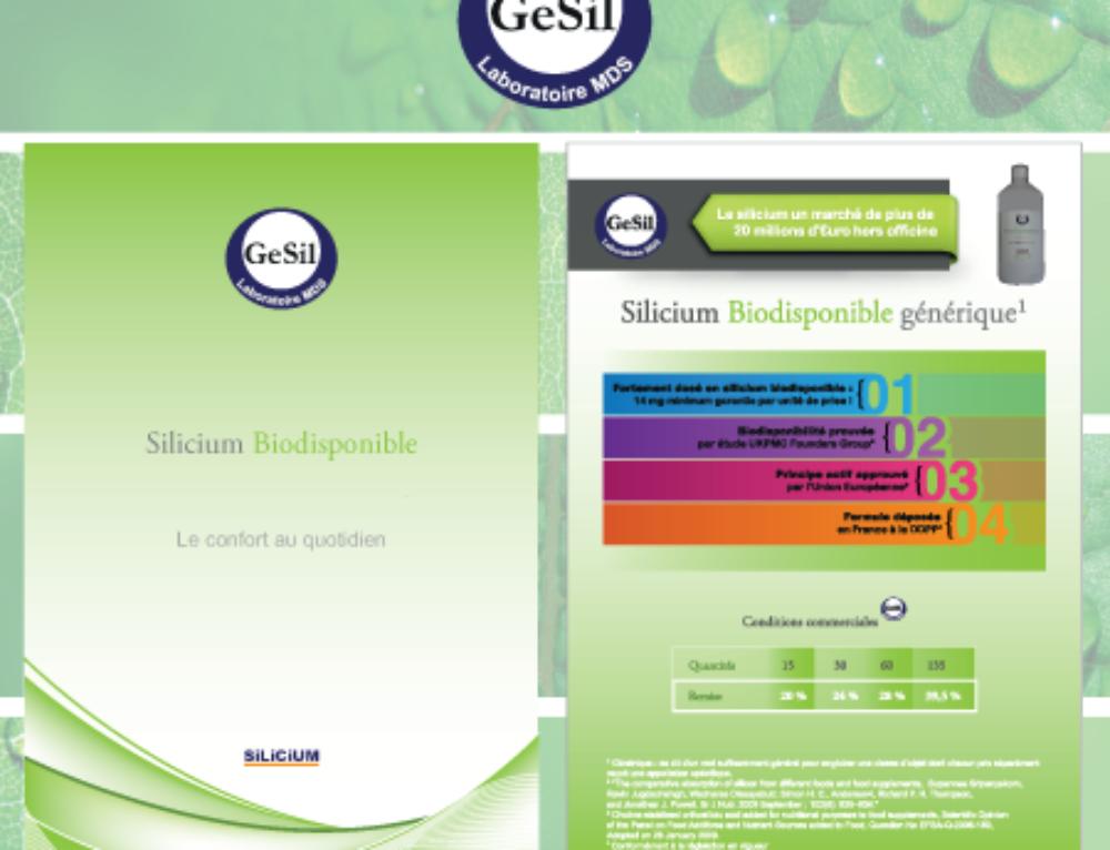 Fiche produit et packaging para-pharmaceutique Gesil