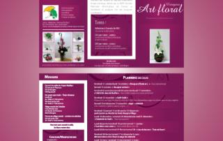 Dépliant 3 volets Atelier Art Floral par EM3C