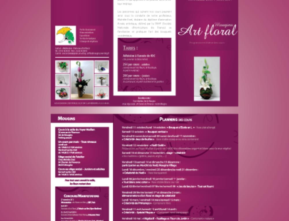 Dépliant 3 volets Atelier Art Floral