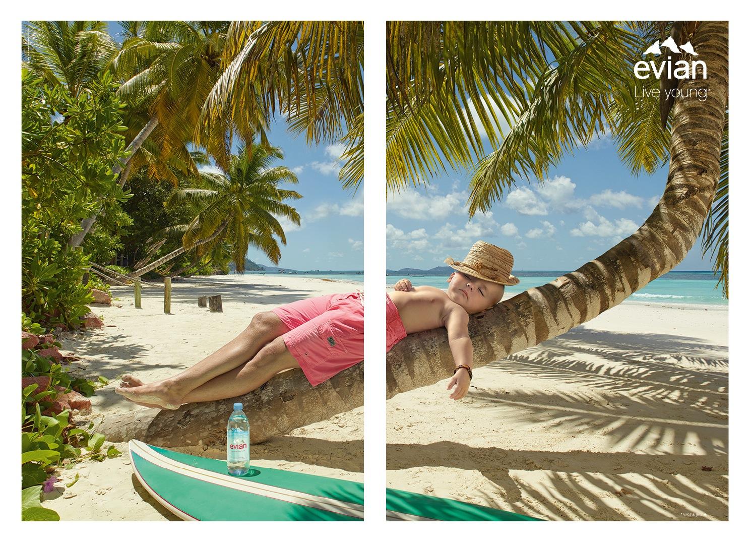 evian-vivons-jeune-homme-dort-tronc-palmier-sieste