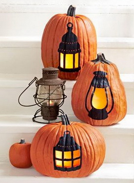 halloween citrouille jack o lantern decoree lanterne lampe tempete em3c graphiste 21 octobre. Black Bedroom Furniture Sets. Home Design Ideas