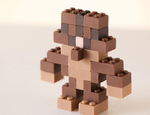 Venez goûter nos LEGO en chocolat fonctionnels par Akihiro Mizuuchi