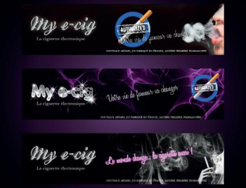 Bannière et logo pour E-cigarette