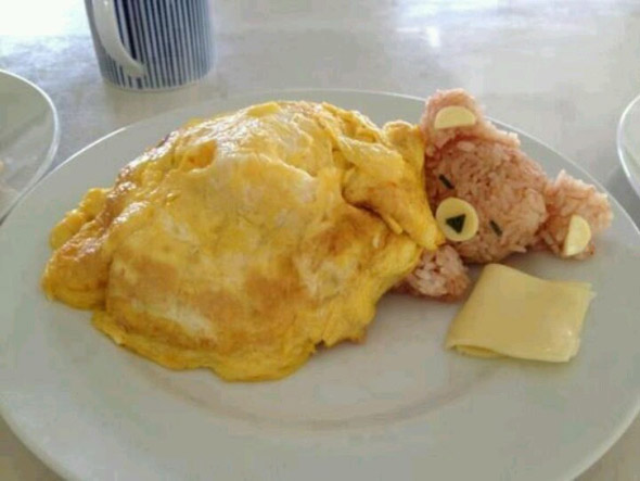 nounours-omelette-riz
