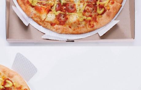 packaging-produit-astucieux-Pizza-support-prédécoupé-part-individuelle