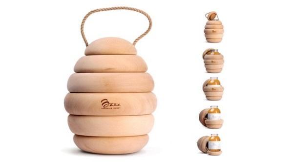 packaging-produit-astucieux-emballage-pot-miel-forme-essain