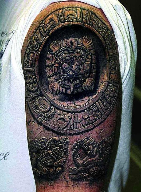 tatoo-gravure-sculture-maya-azteque