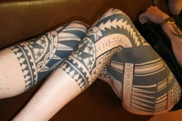 tatouage-jambe-maori