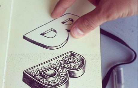 typographie-interactive-cyril-vouilloz-rylsee-lettre-B-style-boite-a-bonbon