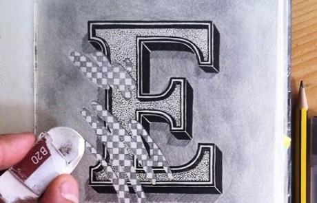 typographie-interactive-cyril-vouilloz-rylsee-lettre-E-gomme-effacee-partiellement